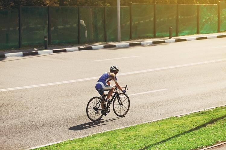 Cycliste à l'entrainement