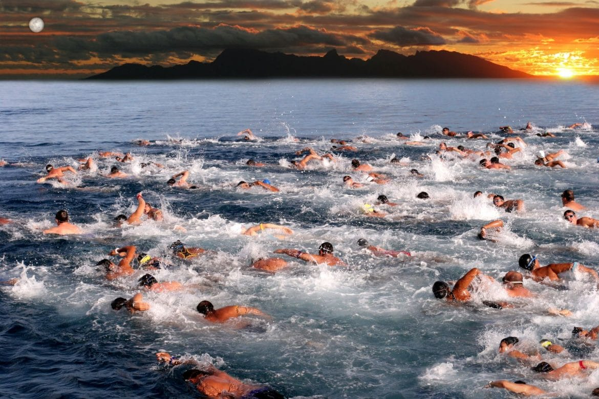 natation pendant un triathlon