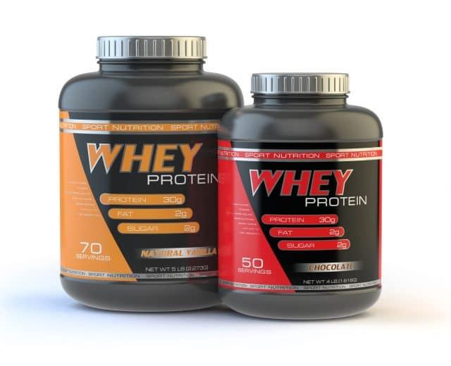 Pots de whey protein powder
