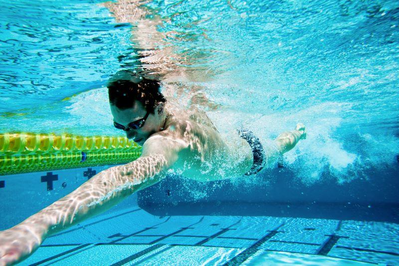 Séance d'entrainement en piscine