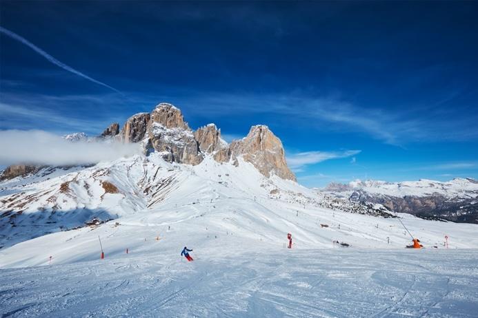 Station de ski dans les dolomites