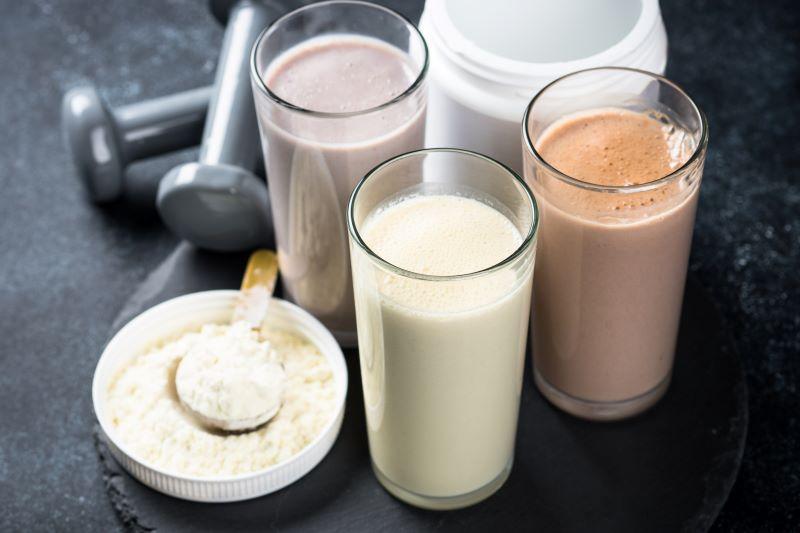 Verres de protéines de lait