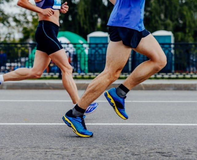 Marathoniens en course