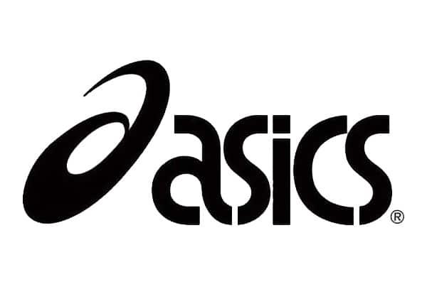 logo asics noir