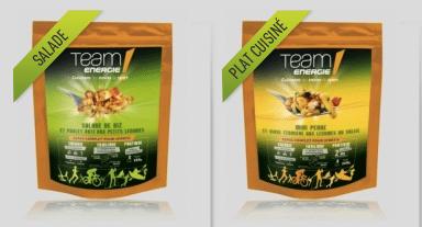 Plats préparés pour le sport team energie