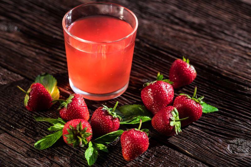 Boisson à la fraise