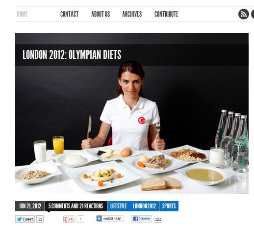 Clichés des assiettes des athlètes turcs