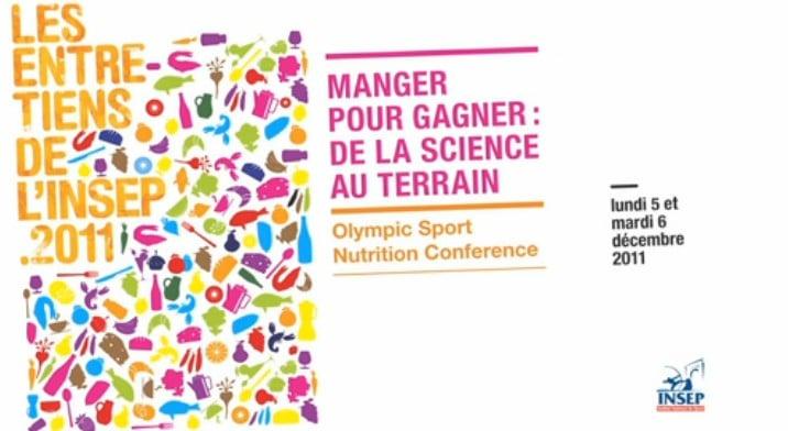 conférences en nutrition sportive insep