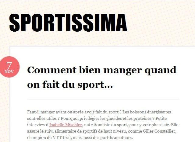 Sportissima le sport au feminin