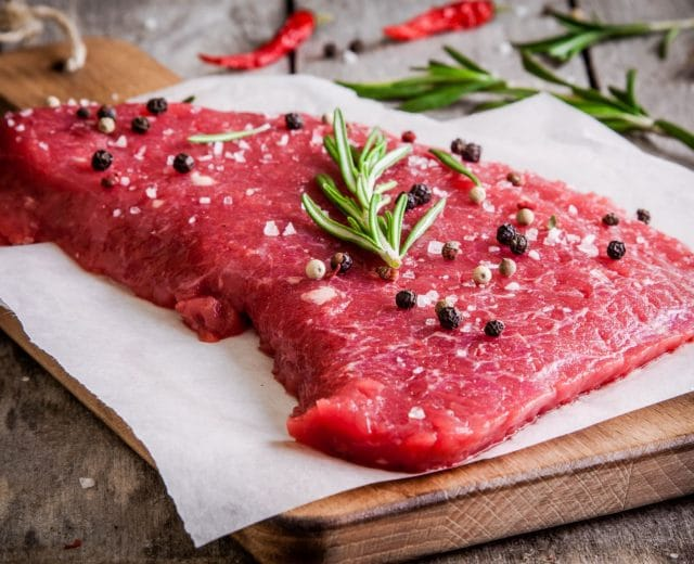 Viande rouge fer