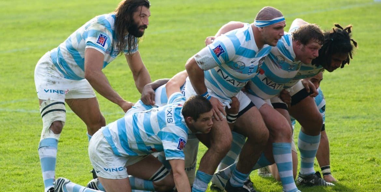 Match de rugby avec Chabal