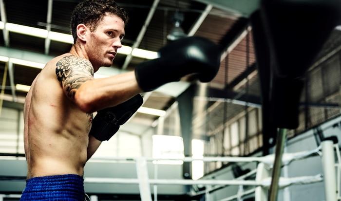 Boxeur à l'entrainement