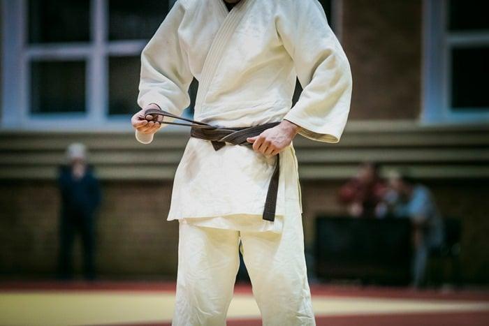 Judoka sur un tatami