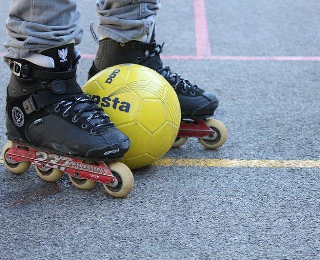 Match de roller soccer